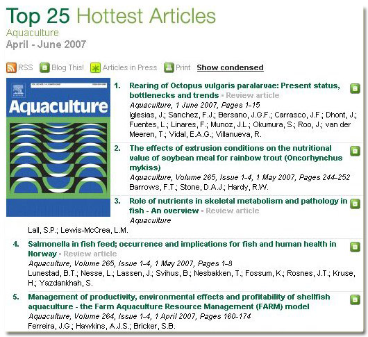 FARM Aquaculture Top 25 Hottest Articles